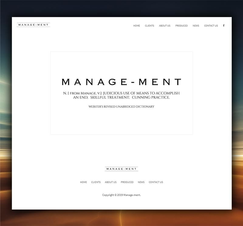 Manage-ment.com website design