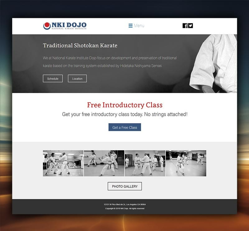 NKI Dojo Website Design