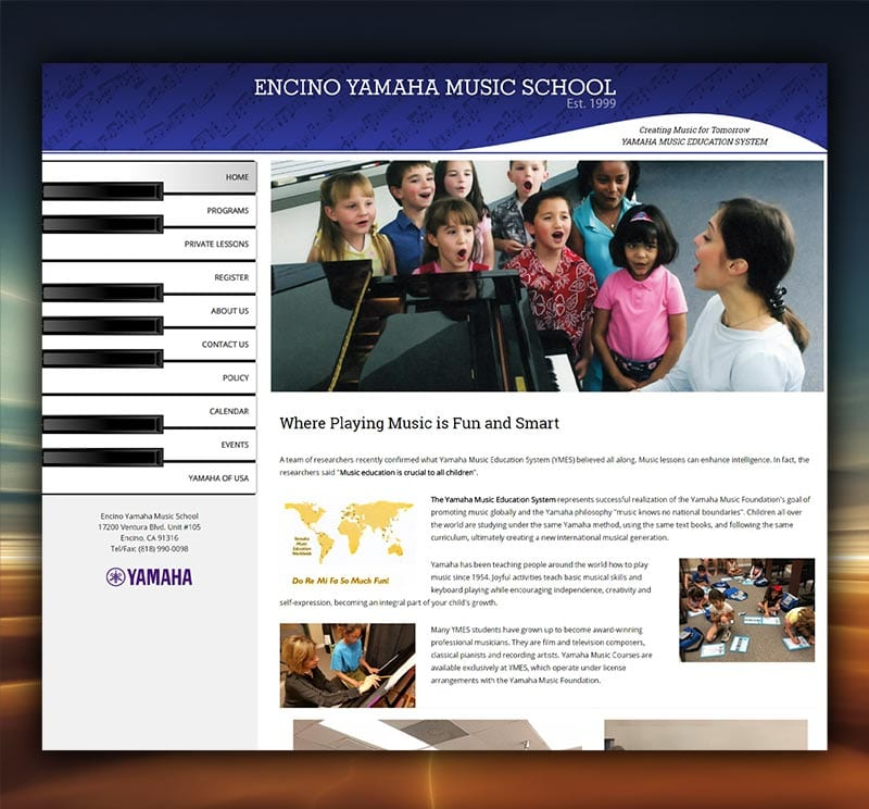 Encino Yamaha Website Redesign