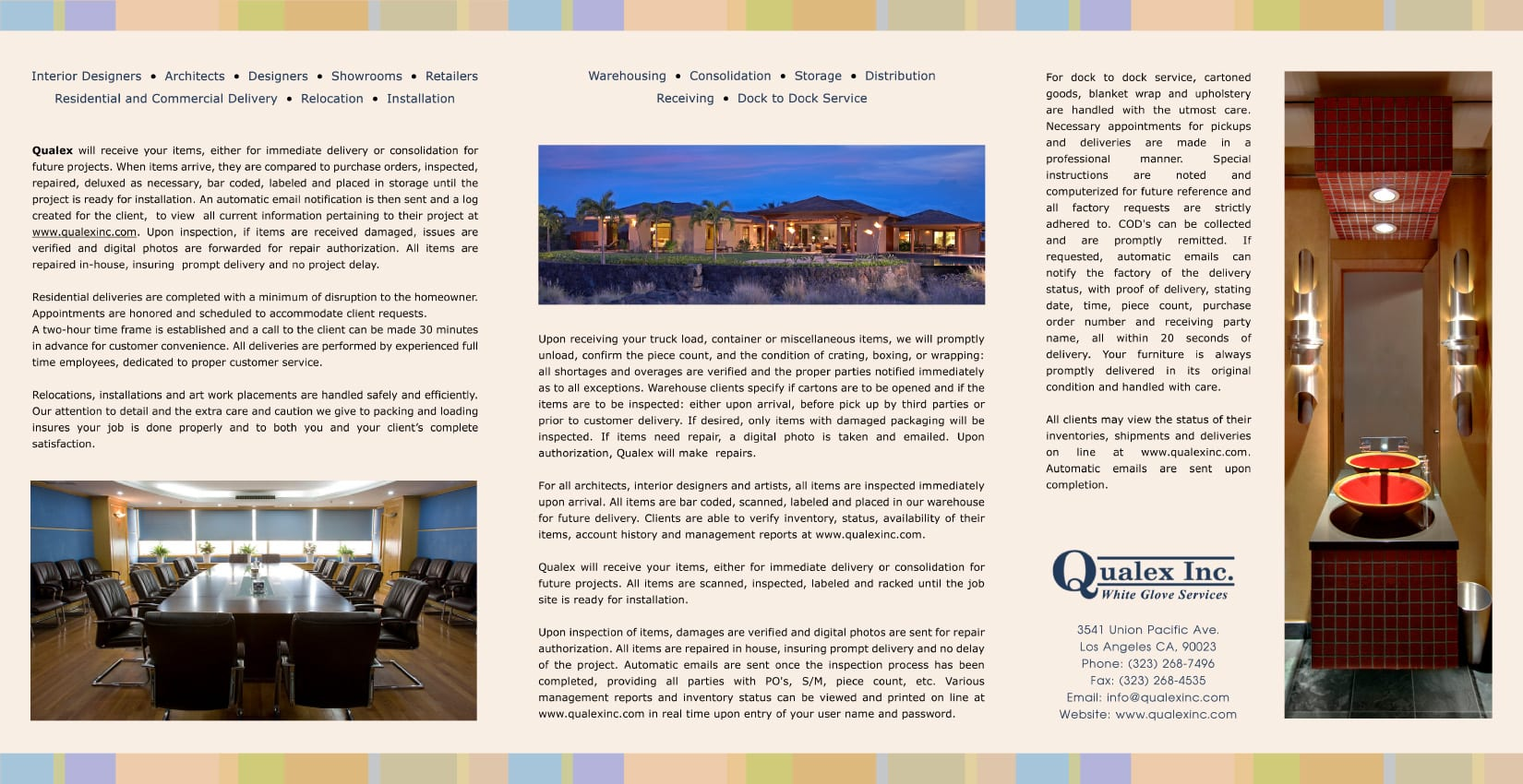 Qualex Tri-Fold Brochure Design Inside
